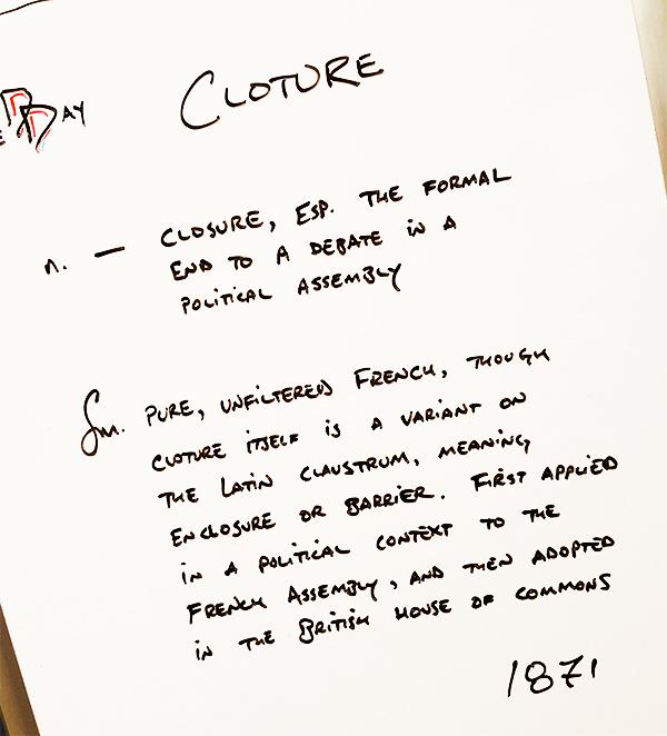 Cloture