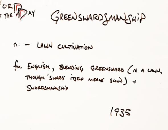 Greenswardsmanship